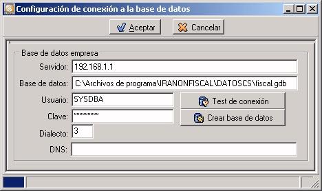 Configuración de la conexión a la base de datos.