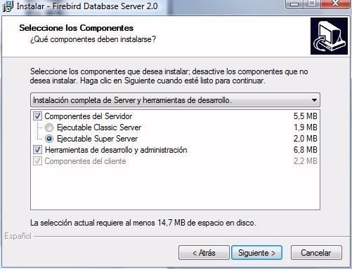 Formato de ejecución del servidor.