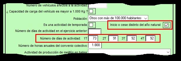 Configurar el Número de días de actividad en Módulos
