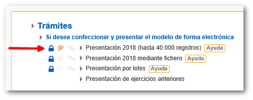 Presentación de modelos 190, 193, 347, etc.